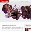 Creating new HTML CSS website layout #4 – Gray theme
