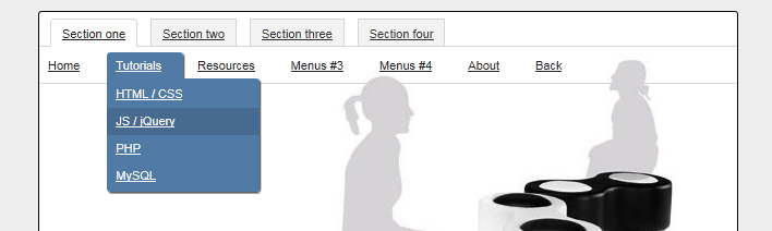 CSS3/jQuery menu7
