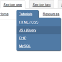 Creating CSS3/jQuery crossbrowser Drop-down menu with tabs