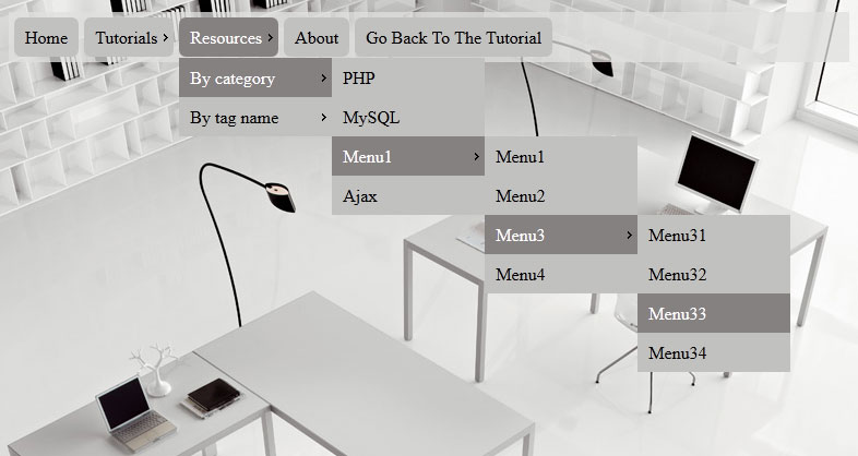 css3 menu9