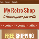 Retro shop – single page layout for your e-shop.