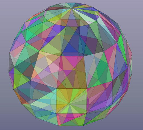 Triangle mesh for 3D objects in HTML5