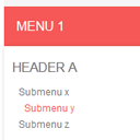 CSS3 Responsive menu