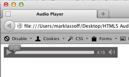 Audio Player in Firefox