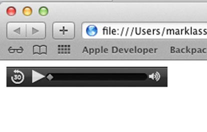 Audio Player in Safari