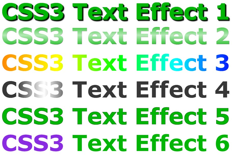 Astonishing CSS3 text effects - preview