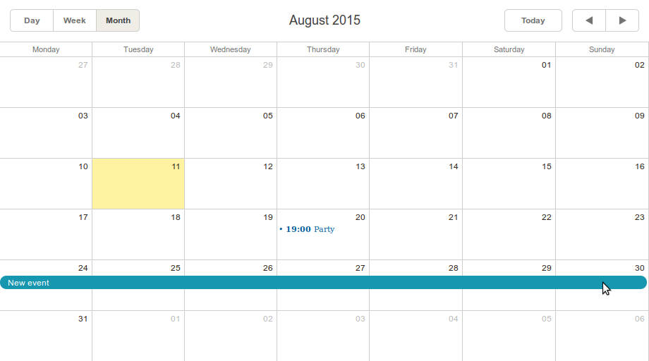 Creating Online Event Calendar with dhtmlxScheduler