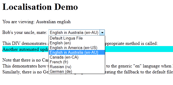 Lingua Localization plugin