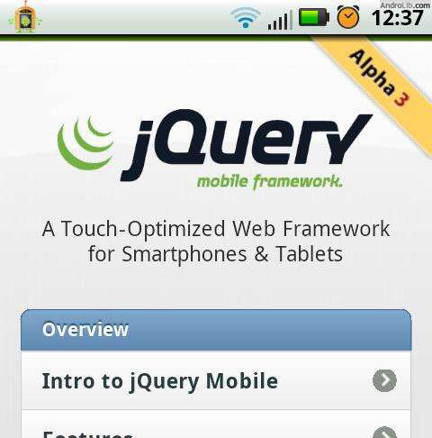 jQuery Mobile docs