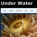 Creating an Under Water Themed HTML5 & CSS3 single page Layout