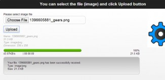 Pure HTML5 file upload