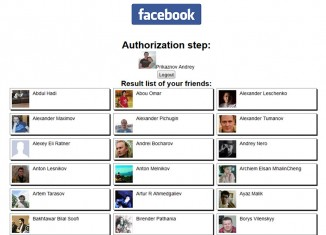 Facebook API – Get friends list
