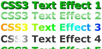Astonishing CSS3 text effects