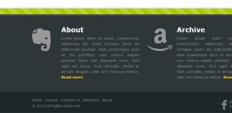Stylish responsive footer