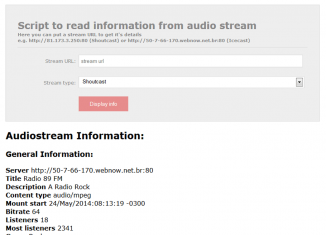 Script to read information from audio stream