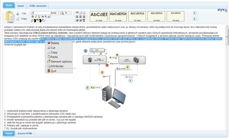 HTML 5 WYSIWYG Editor
