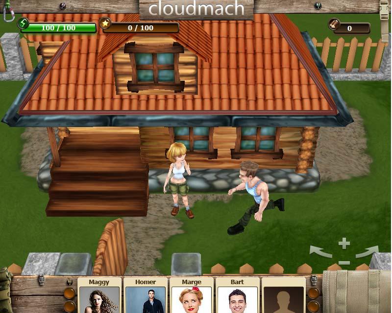 3D Social game (WebGL)