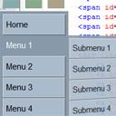 CSS3 vertical multicolor menu