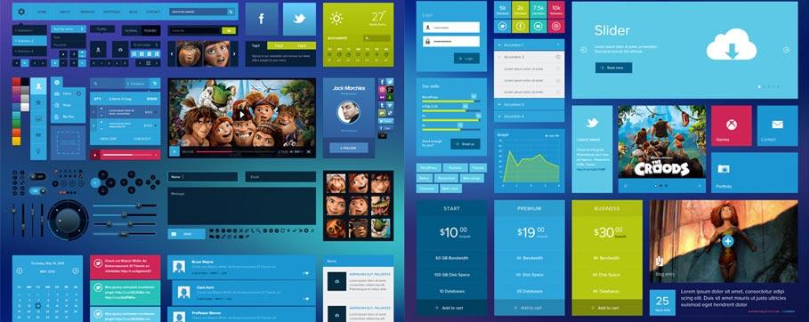 Metro Tiles UI Kit (PSD)