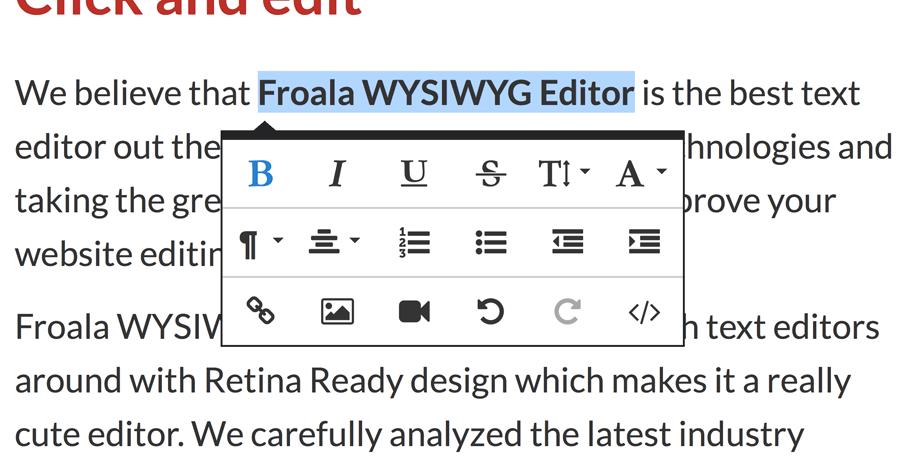 Froala WYSIWYG Editor Inline