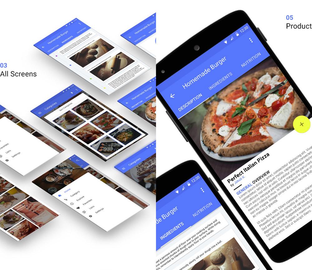 Recipes - Material Design