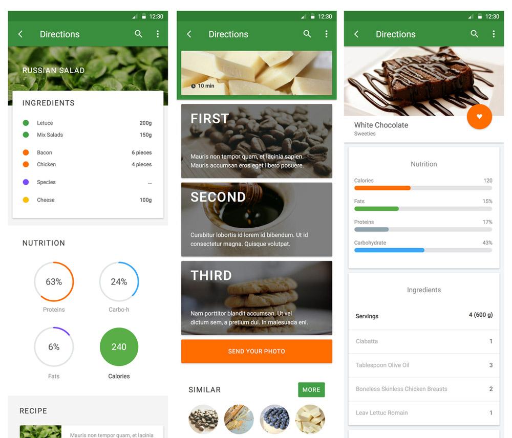 Material UI Kit: Cooking