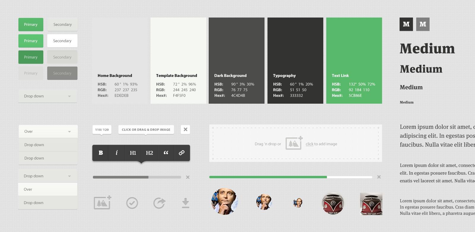 Medium.com Ui Style Guide by Teehan+Lax
