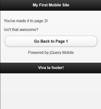 jQuery Mobile Lesson 3