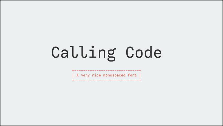 Calling code