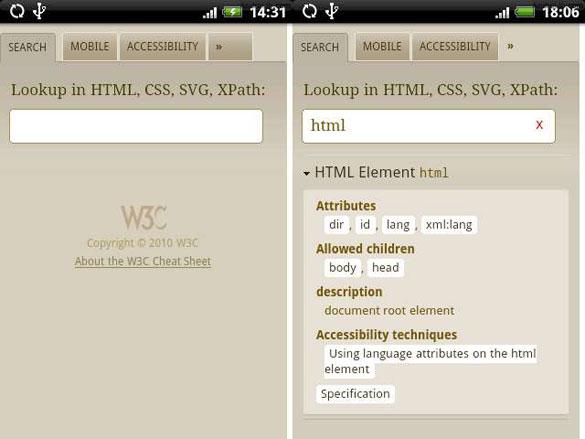 W3C Cheatsheet