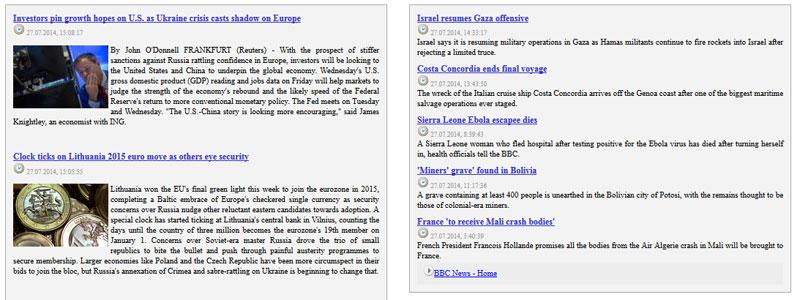 rss news php script
