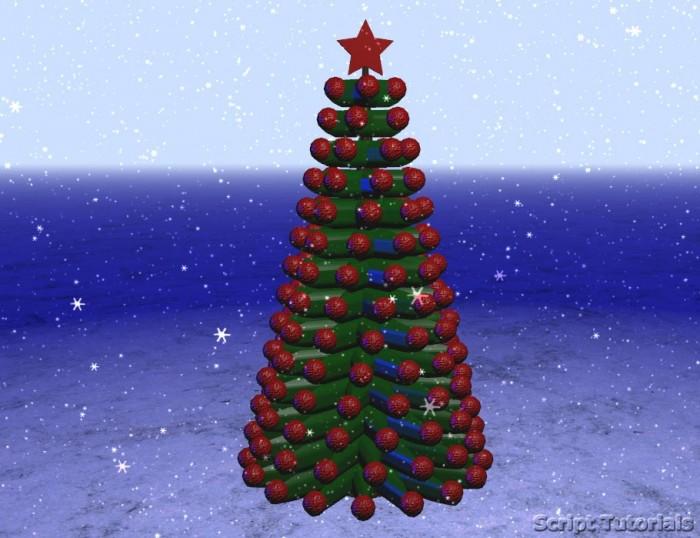 Christmas tree with three.js