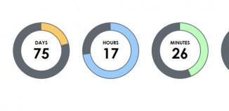 Creating circular counter with TimeCircles