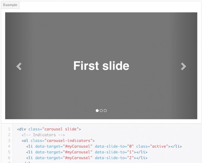 Bootstrap 3 slider