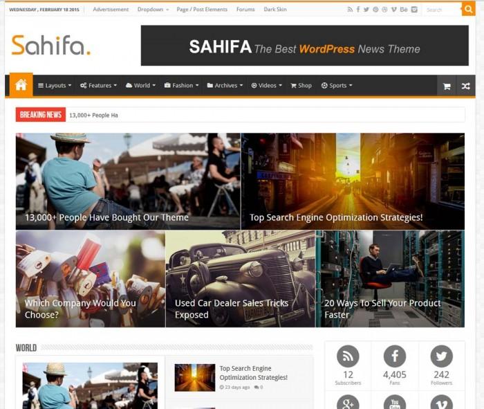 Sahifa template