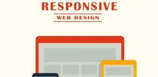 Responsive web design - futuristic technology